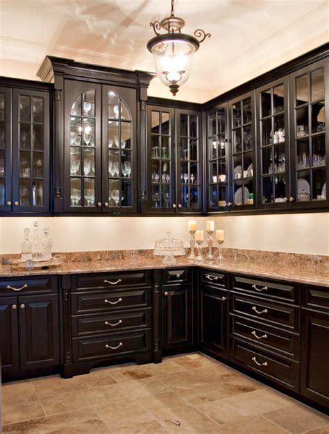 Distressed Island Kitchen Black Butler S Pantry Kitchen Charleston By
