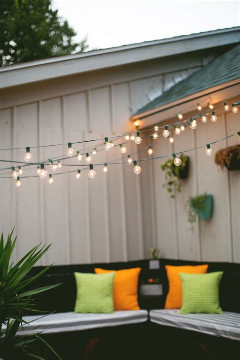 decor tips hanging string lights   outdoor space