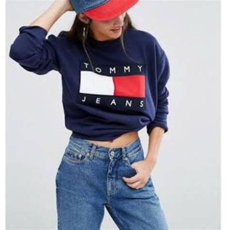Sweater Temmy Navy sweater hilfiger sweatshirt navy jumper hoodie