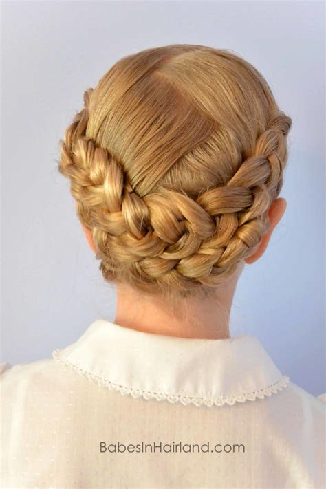 braided baptism hairstyle from babesinhairland baptism lds mormon braids