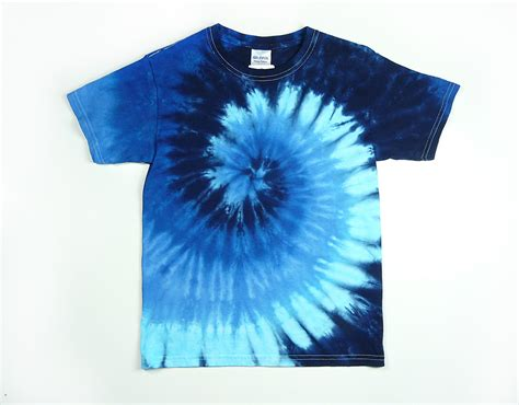 design t shirt tie dye tie dye shirt youth blue spiral design size xs s m or l