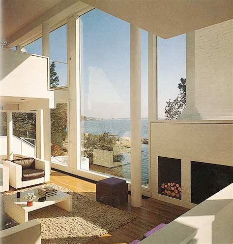 The Smith House By Richard Meier In Darien Ct Photograph Interior View