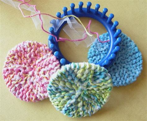 loom knitting ideas scrubby o s knifty knitter patterns