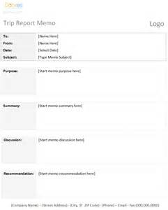 business trip report format trip report memo template dotxes