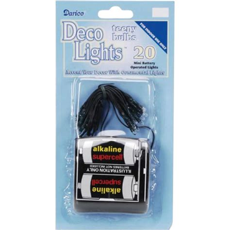 battery operated mini white lights on green cord 20 light