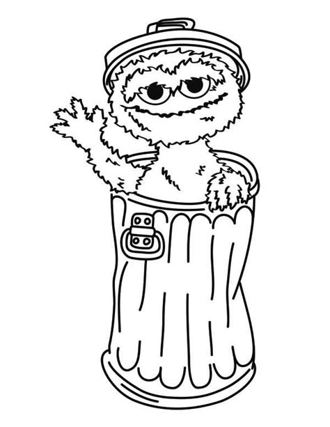 Oscar The Grouch From Sesame Street Coloring Page Oscar Oscar The Grouch Coloring Page