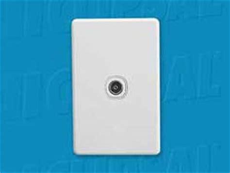 Socket Antena Tv Plastik 75 ohm tv antenna socket plate c2031vtv75 design content