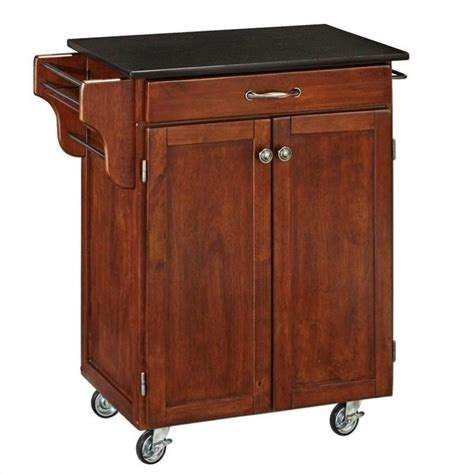Kitchen Cart Granite Top by Kitchen Cart In Cherry With Granite Top 9001 0074
