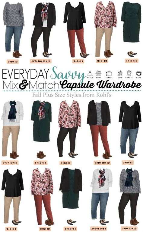 Capsule Wardrobe Plus Size by Fall Plus Size From Kohls Mini Capsule Mix Match