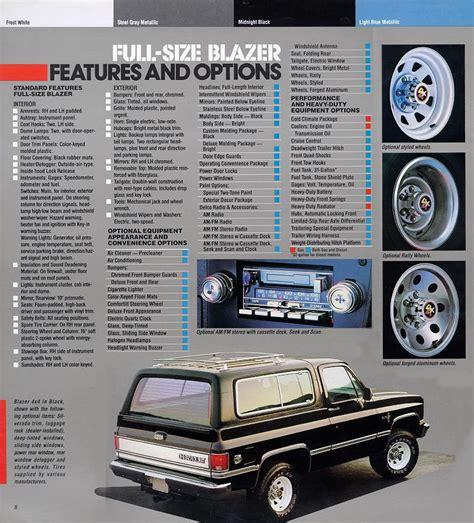 Car Brochures 1987 Chevrolet And Gmc Truck Brochures