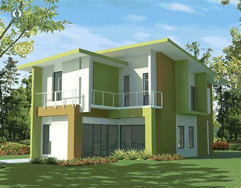 gambarrumahdot rumah minimalis hijau