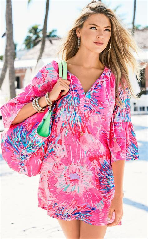 Tunic Vitoria 2 Dress lyst lilly pulitzer lago tunic dress in pink