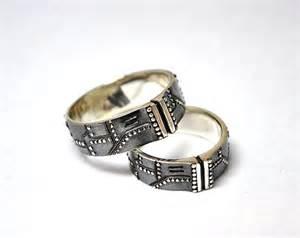 etsy wedding ring silver wedding rings steunk industrial by gatojewel on etsy