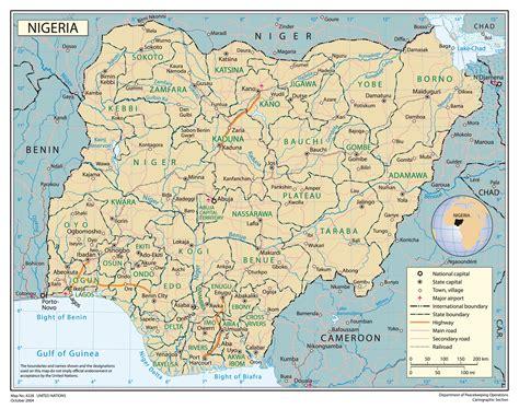political map of nigeria ezilon maps full political map of nigeria nigeria full political map