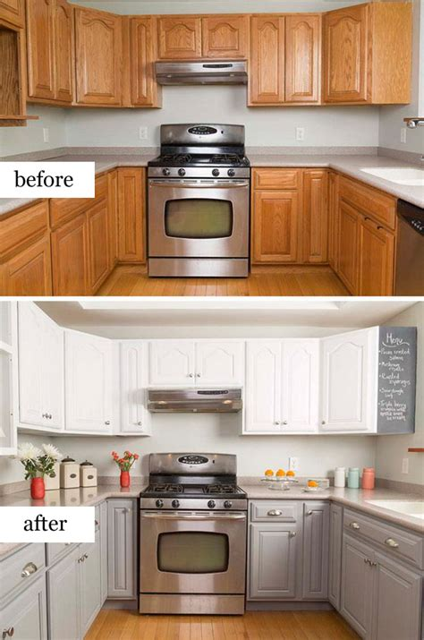 Kitchen Backsplash Paint pretty before and after kitchen makeovers noted list
