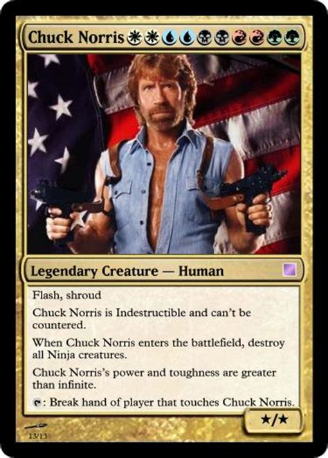 Magic Card Meme - magic chuck norris card by rivaren on deviantart