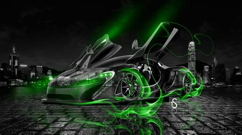 wallpaper crystal green mclaren p1 open doors fire crystal car 2013 el tony