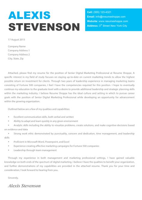 View Sle Cover Letter Resume Cover Letters Archives Resumeshoppe