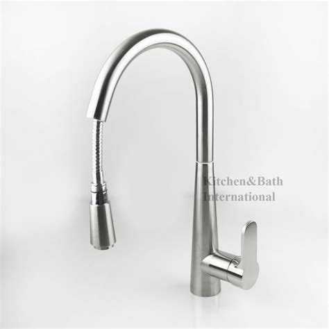 Astini Zetland Brushed Steel Pullout Kbi Kitchen Tap Sink Mixer Faucet Pull Out Brush Satin Uk Stock X208a Faucets