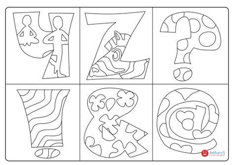 simboli lettere lettere e simboli yz disegni da colorare sabbiarelli