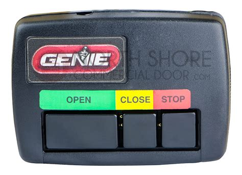 Garage Door Opener Stops While Closing by Genie Gidfx5 Three Button Open Stop Commercial