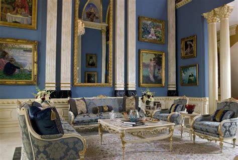 classic interior design  blue redefining  elegance