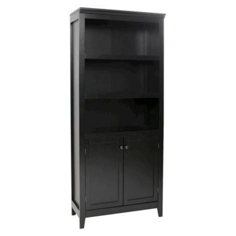 5 shelf bookcase with doors carson 5 shelf bookcase with doors threshold