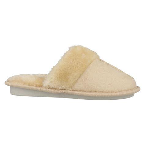 memory foam mule slippers memory foam fur trim mule slippers ebay
