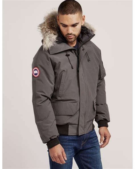 canada goose mens bomber jacket sale canada goose mens chilliwack padded bomber jacket grey in
