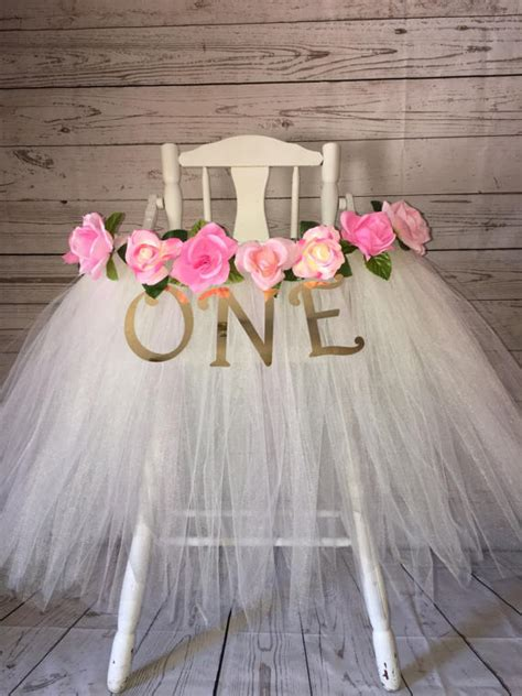 high chair tutu high chair tutu high chair skirt ivory and pink highchair