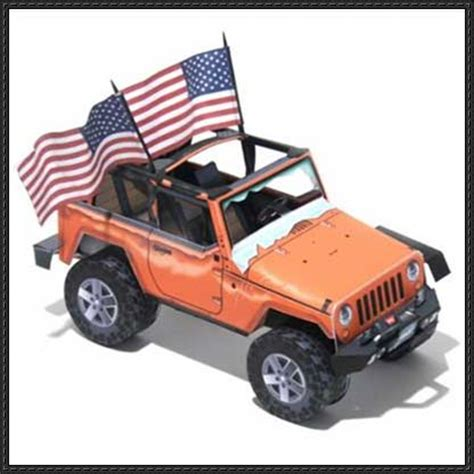 Papercraft Jeep - papercraftsquare