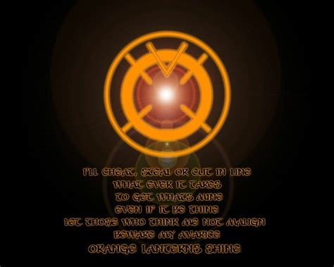 orange lantern oath dc comics orange