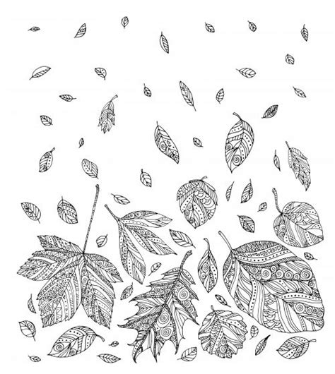 leaves coloring pages for adults 408 best adult colouring trees leaves landscapes