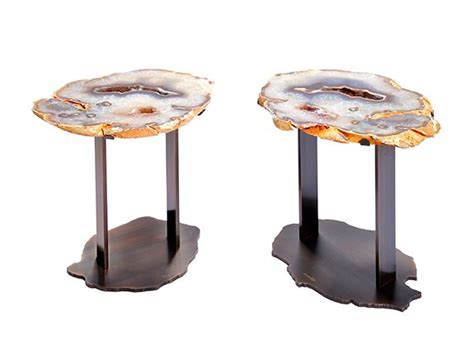 agate side tables hunt cabin chic rustic luxe