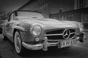 Mercedes Vintage Vintage Mercedes Car Black White Free Stock Photo