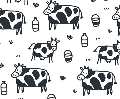 cow pattern background free vector cartoon cow pattern vector vector art graphics