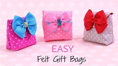 How To Make A Small Gift Bag Out Of Paper - how to make a gift bag diy small gift bags felt crafts