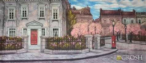 mary poppins in cherry 0008207461 our cherry tree lane backdrop portrays the street on which the banks family first encounters the