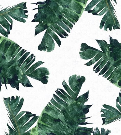 printable leaf art banana leaf watercolor pattern tropical art patterns