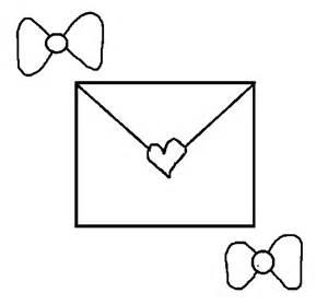 dibujo de sobre con corazones para colorear dibujos net