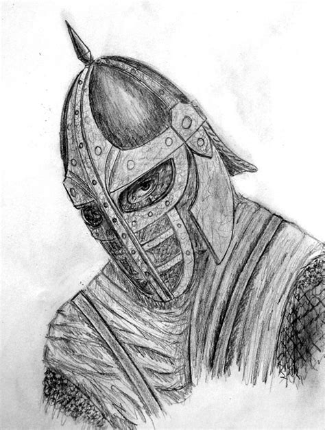 how to a to be a guard how to draw skyrim gaurd