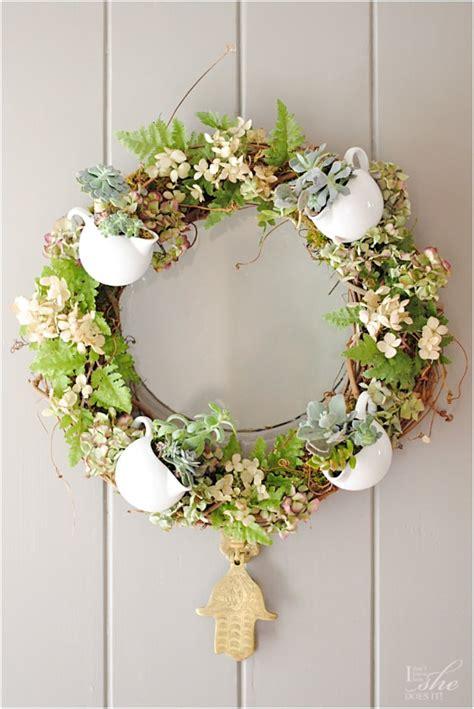 give spring  warm    flowery diy wreaths