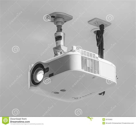 hang projector from drop ceiling projector stock photography image 29755962