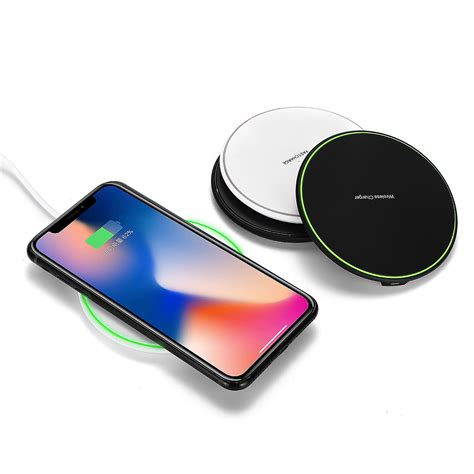 qi wireless charger 10w fast charging pad dock for samsung note 9 for iphone xs alexnld