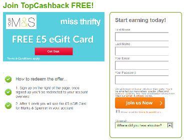 Register Marks And Spencer Gift Card - freebie snag a 163 5 marks spencer gift card