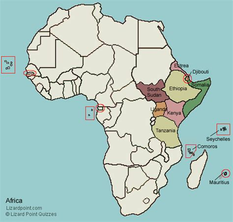 test  geography knowledge eastern africa countries