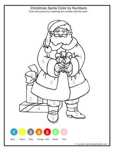 Colour By Numbers Father Christmas More » Ideas Home Design