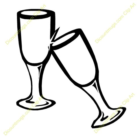 cartoon wine glass cheers wedding cheers clipart