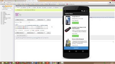 Android With Php by Android Integrating Paypal Using Php Mysql Demo
