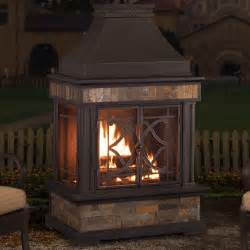 Patio Wood Burning Fireplace by Sunjoy Heirloom Steel Wood Burning Outdoor Outdoor